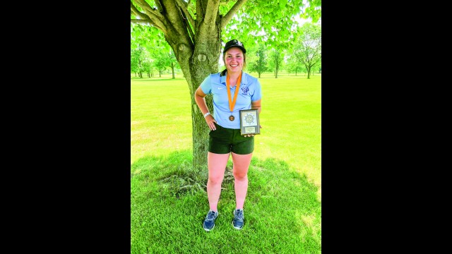 Cedar Mountain golfer Morgan Engholm finished fourth in the Tomahawk Conference and also received Tomahawk Conference honors. She will be competing in the State Tournament June 14-16th. (Submitted photo)