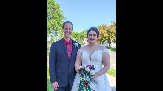 Jordan and Rachel (Markgraf) Albrecht got married on May 30, 2020 at St. John Lutheran Church in Fairfax. It was very different than what they had originally planned for their big day, due to the COVID-19 pandemic.  (Submitted Photo)