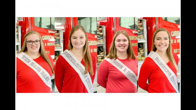 The 2020 Gibbon Royalty Candidates are (from left) Samantha Dalgleish, Baleigh Peterson, Harlie Rubischko and Rylee Sabo.