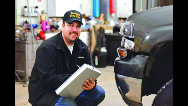 Josh Krenz, owner of the Fairfax Body Shop, was injured in an electrocution accident last week. (Submitted photo by Rachel Marie Photography)