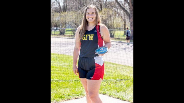 Olivia Schwarzrock also heads to the state tournament to compete in the discus event.