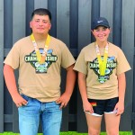 Sam Forst (left) and Lexi Schweiss (right) placed second and first respectively in their classes. Lexi was second highest female shooter overall and Sam was first high male shooter in his class. (Submitted photos)
